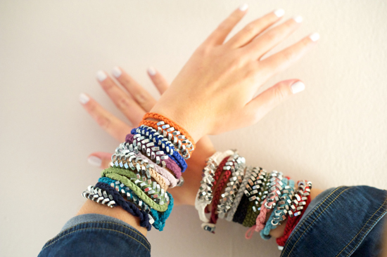 organizzare i braccialetti