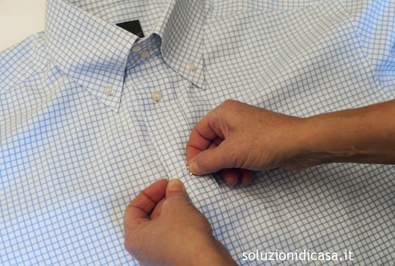 come piegare una camicia